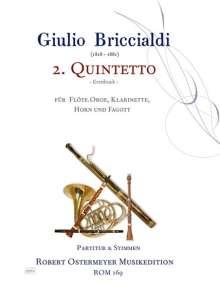 Giulio Briccialdi: 2.Quintetto für Flöte, Oboe, Klarinette, Horn und Fagott op. 132 (um 1870), Noten