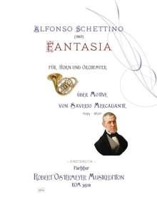 Alfonso Schettino: Fantasia über Melodien von Saverio Mercadante für Horn und Orchester (1863), Noten
