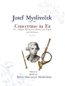 Josef Myslivecek: Concertino für 2 Klarinetten, Hörner, Fagott und Orchester Es-Dur (um 1775), Noten