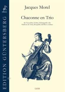 Jacques Morel: Chaconne en Trio (1709), Noten