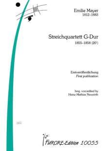Emilie Mayer: Streichquartett G-Dur, Noten