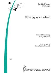 Emilie Mayer: Streichquartett e-Moll, Noten