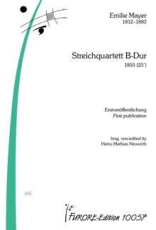 Emilie Mayer: Streichquartett B-Dur, Noten