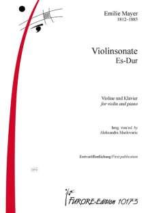 Emilie Mayer: Violinsonate Es-Dur, Noten