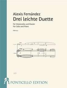 Alexis Fernandez: Drei leichte Duette für Violoncello und Klavier, Noten