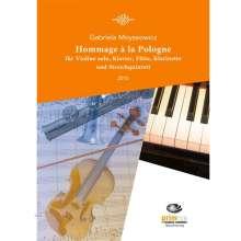 Gabriela Moyseowicz: Hommage à la Pologne für Violine solo, Klavier, Flöte, Klarinette und Streichquintett (2015), Noten