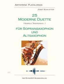 Traditionel: 25 moderne Duette für Sopran und Altsaxophon, Noten