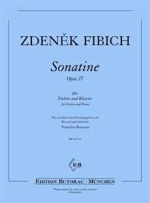 Zdenek Fibich: Sonatine d-moll op. 27, Noten