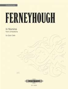Brian Ferneyhough: In Nomine (from Umbrations) for Solo Cello, Noten