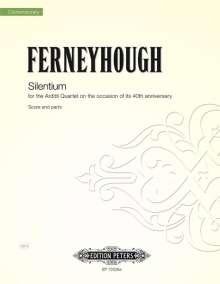 Brian Ferneyhough: Silentium for String Quartet, Noten