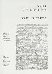Carl Stamitz (1745-1801): 3 Duette für 2 Violen, Noten
