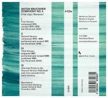 Anton Bruckner (1824-1896): Symphonie Nr.4 (Die 3 Versionen), 4 CDs (Rückseite)