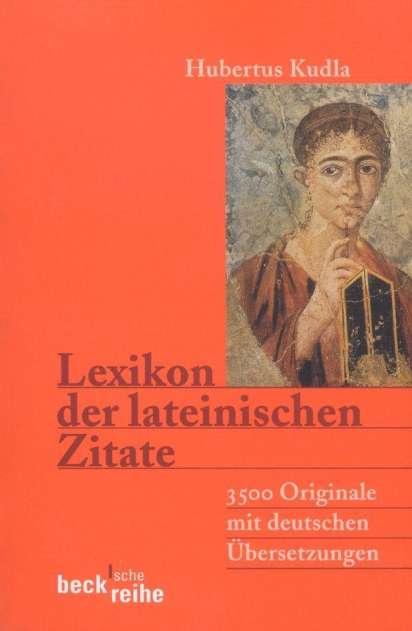 Lexikon Der Lateinischen Zitate Buch Jpc