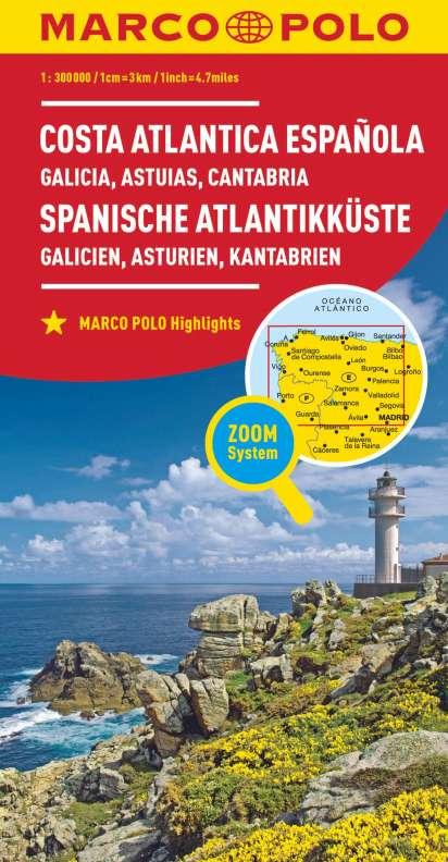 Spanische Karte.Marco Polo Karte Spanien Spanische Atlantikkuste 1 300 000