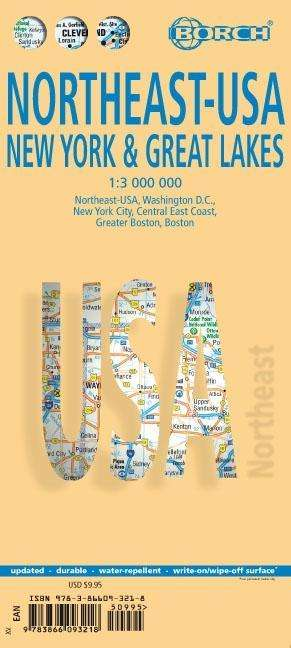 Northeast-USA 5. New York & the Great Lakes 1 : 3 000 000 + City ...