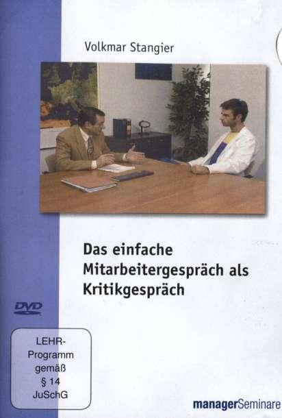 das einfache mitarbeitergesprch als kritikgesprch dvd - Kritikgesprach Beispiel