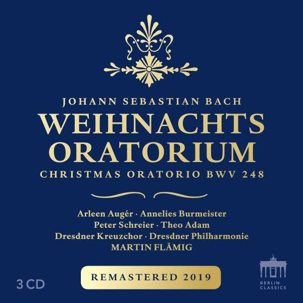 Bildergebnis für Weihnachtsoratorium BWV 248 (2019 Remastering)  Arleen Auger, Theo Adam, Peter Schreier, Dresdner Kreuzchor, Dresdner Philharmonie, Martin Flämig