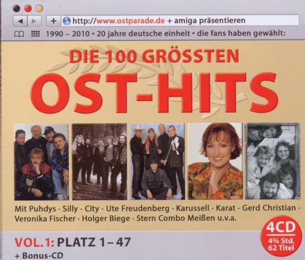 Die 100 Größten Ost Hits Vol 1 Platz 1 47 4 Cds Jpc