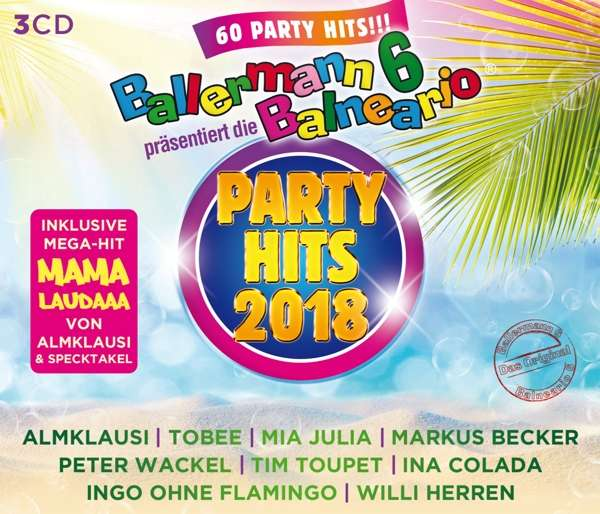 Ballermann 6 Balneario Präsdie Party Hits 2018 3 Cds Jpc