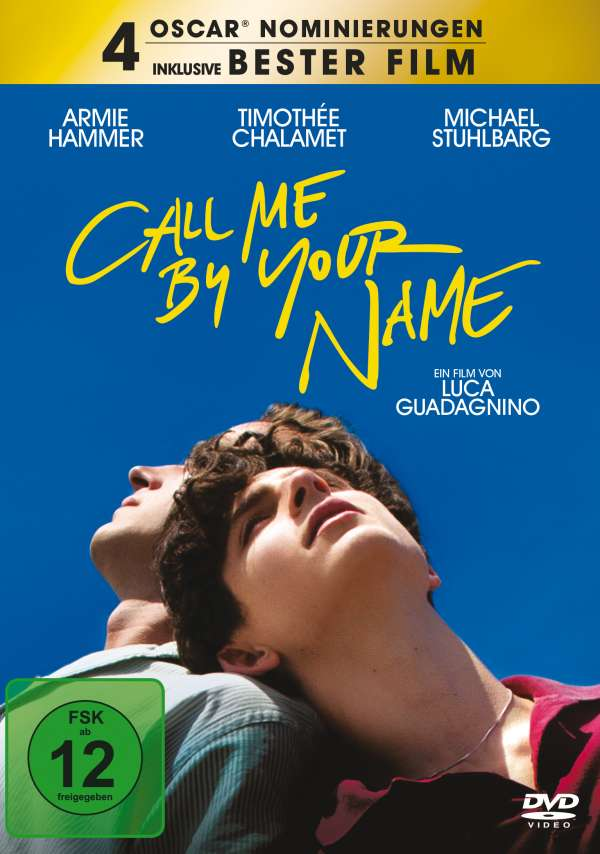 Call Me By Your Name Dvd Jpc