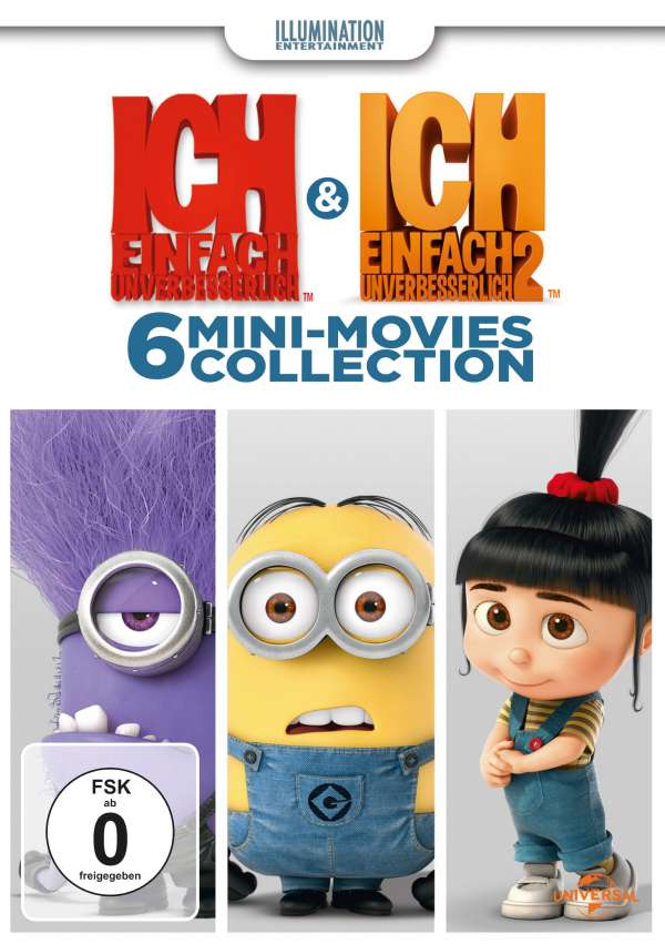 ich einfach unverbesserlich 1 2 minion movie collection dvd jpc. Black Bedroom Furniture Sets. Home Design Ideas