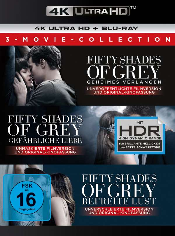 Fifty Shades Of Grey 3 Movie Collection Ultra Hd Blu Ray Blu