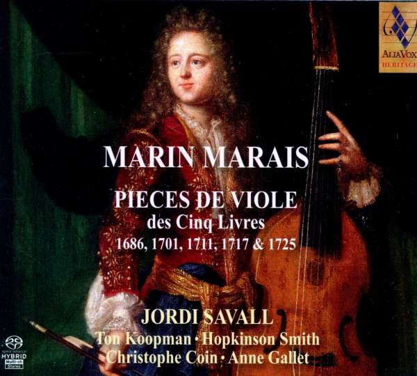 Marin Marais (1656-1728): Pieces de Viole (Buch 1-5), 5 Super Audio CDs