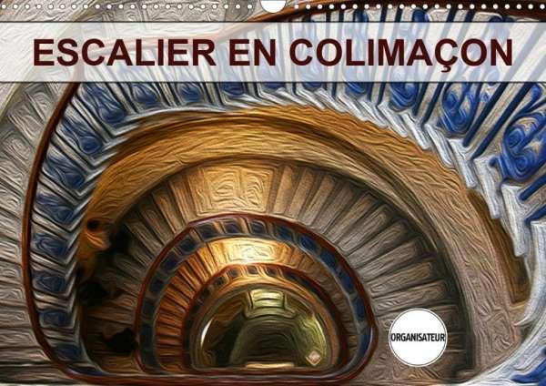 Nadia Le Lay: ESCALIER EN COLIMAÇON (Calendrier mural 2020 DIN A3  horizontal)