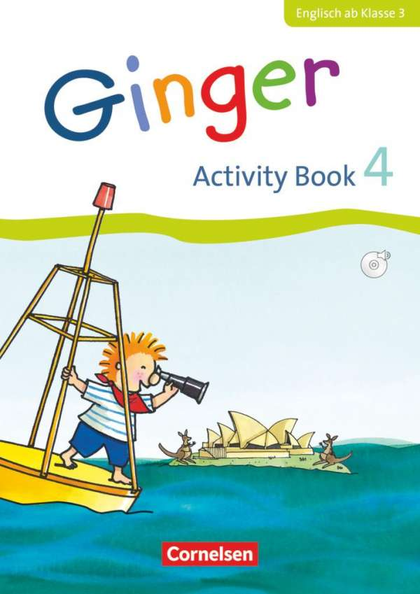 Kerstin Caspari Grote Ginger 4 Schuljahr Activity Book Mit CD Kartoniert Broschiert