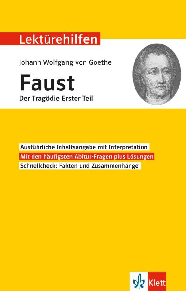 Lektürehilfen Johann Wolfgang Von Goethe Faust Der Tragödie