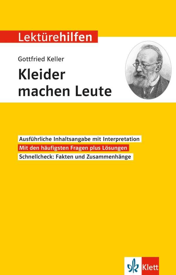 Lekturehilfen Gottfried Keller Kleider Machen Leute Buch Jpc