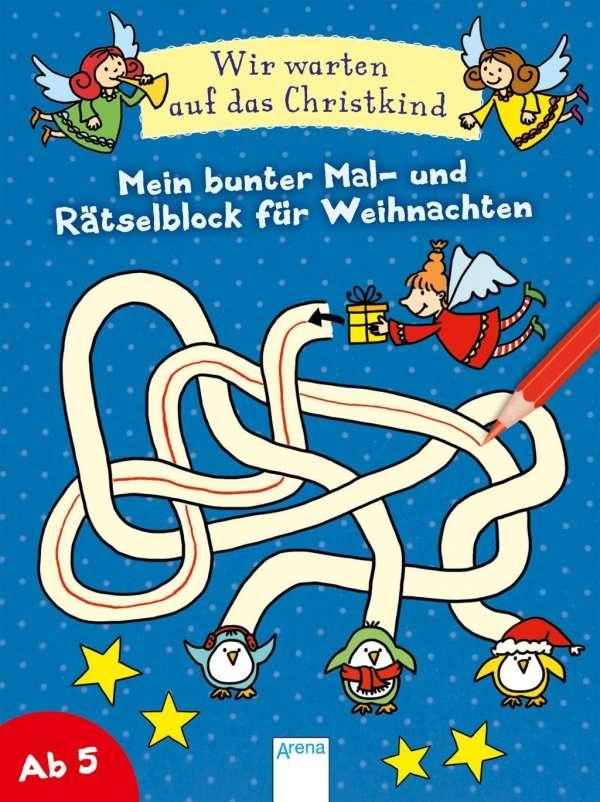 Christkind Bilder Weihnachten.Silke Reimers Wir Warten Auf Das Christkind Mein Bunter Mal Und Rätselblock Für Weihnachten
