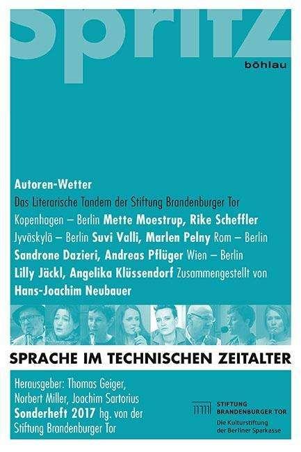 Sprache Im Technischen Zeitalter Sonderheft 2017 Autoren Wetter