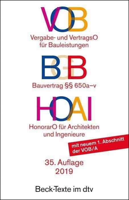 Vob Bgb Bauvertrag Hoai Buch Jpc