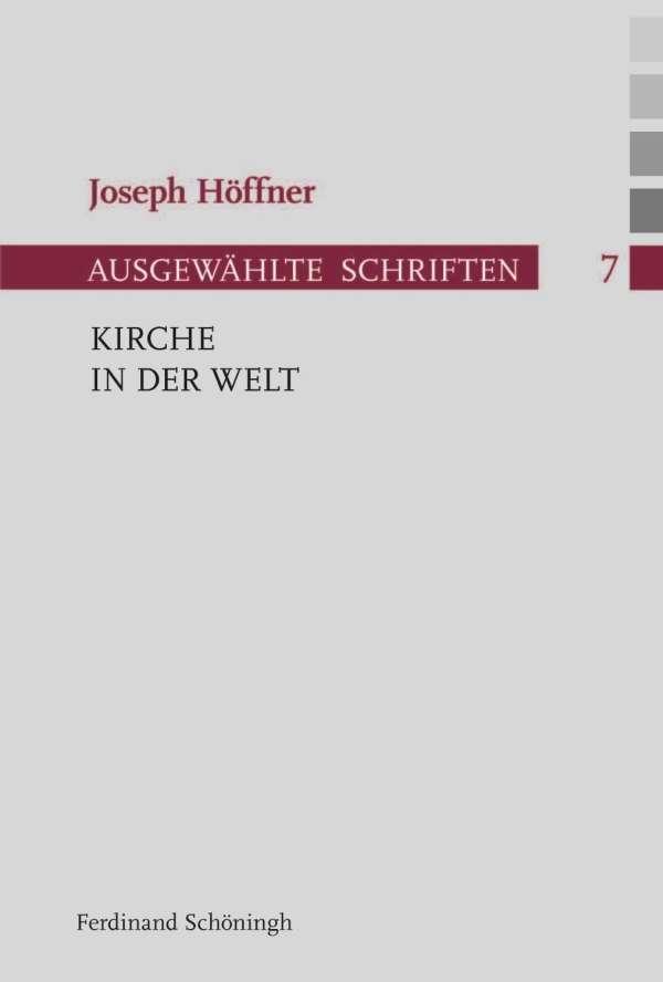 Kirche In Der Welt Joseph Hoffner Buch Jpc