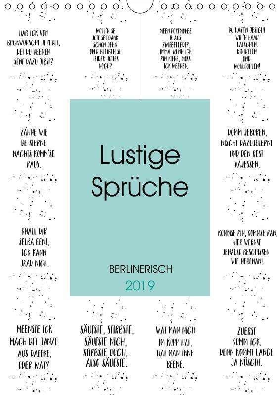 Melanie Viola Berlinerisch Lustige Spruche Wandkalender 2019 Din
