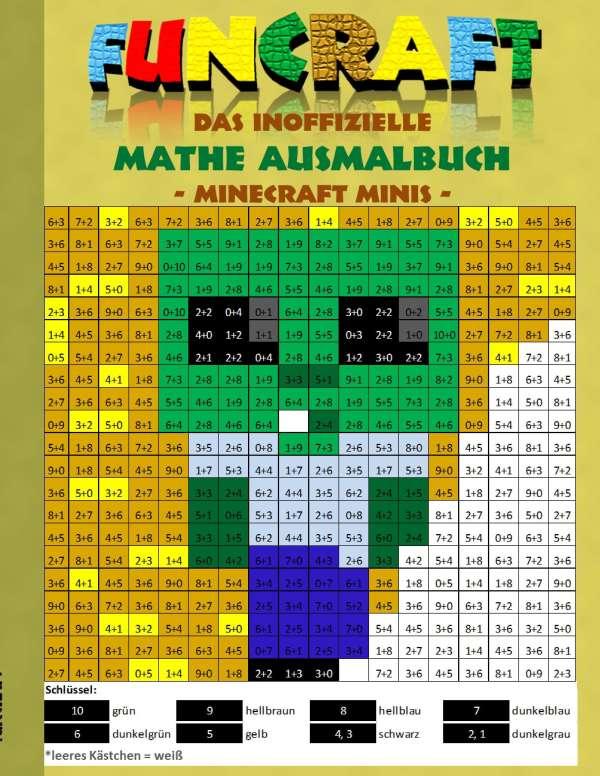 Funcraft Das Inoffizielle Mathe Ausmalbuch Minecraft Minis Cover - Minecraft spielen lernen