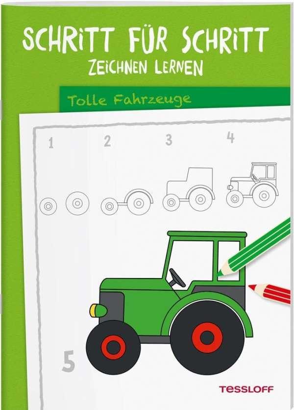 Schritt Fur Schritt Zeichnen Lernen Tolle Fahrzeuge Buch Jpc