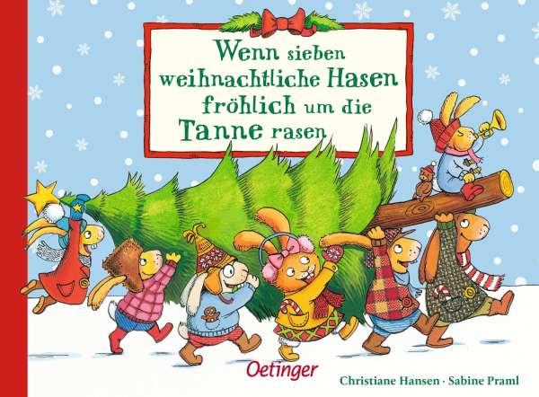 Wenn sieben weihnachtliche Hasen fröhlich um die Tanne rasen ...