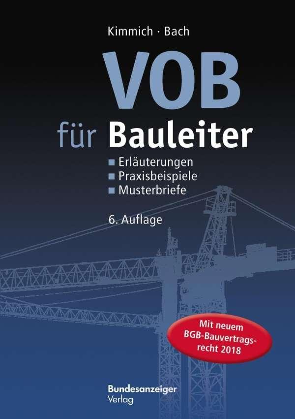 Vob Für Bauleiter Bernd Kimmich Buch Jpc