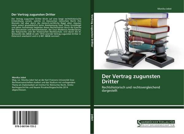 Der Vertrag Zugunsten Dritter Monika Jobst Buch Jpc