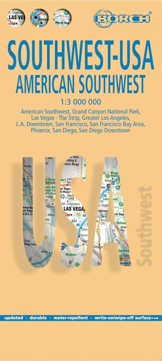 USA 2. American Southwest 1 : 3 000 000. Road Map + City Maps
