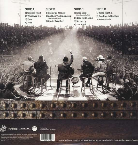 Zac Brown Band Greatest Hits So Far 2lp Cd 2 Lps