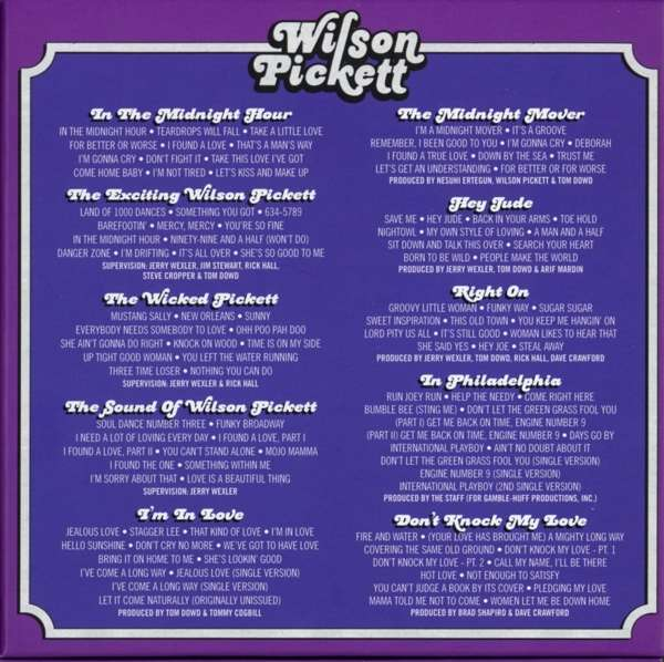 Wilson Pickett The Complete Atlantic Albums Collection