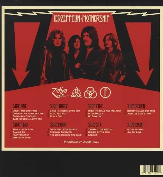 Led Zeppelin Mothership Remastered 180g 4 Lps Jpc