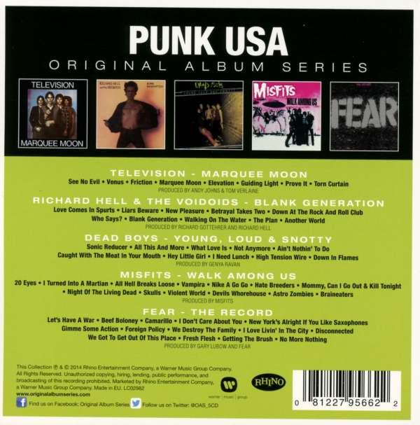 Punk Usa Original Album Series 5 Cds Jpc