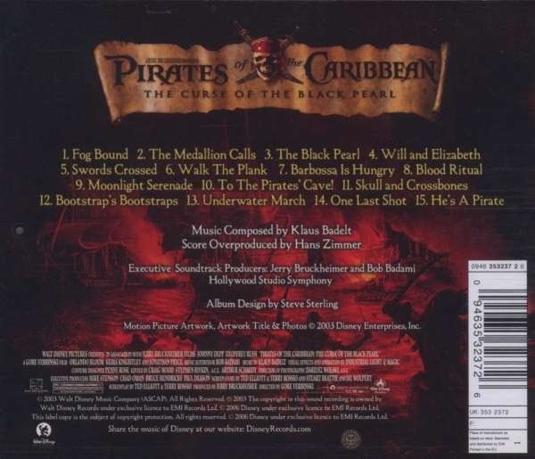 Filmmusik Pirates Of The Caribbean