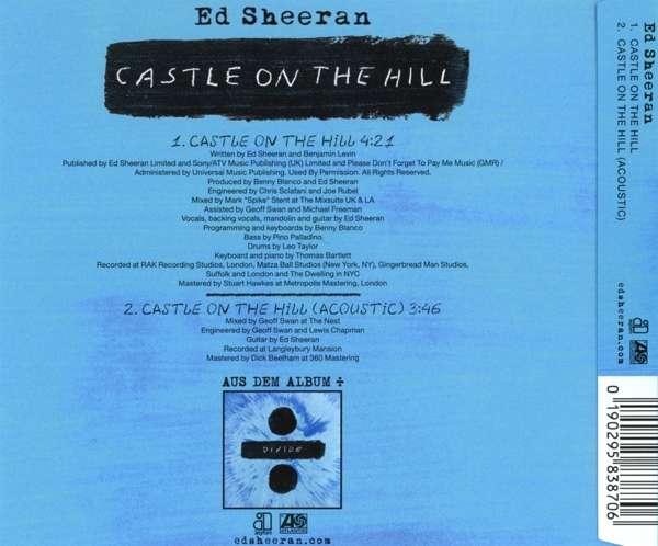 Ed Sheeran Castle On The Hill Maxi Cd Jpc De