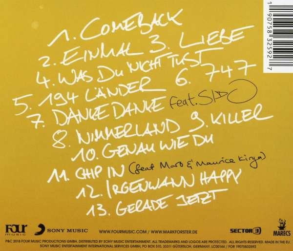 mark forster single cd
