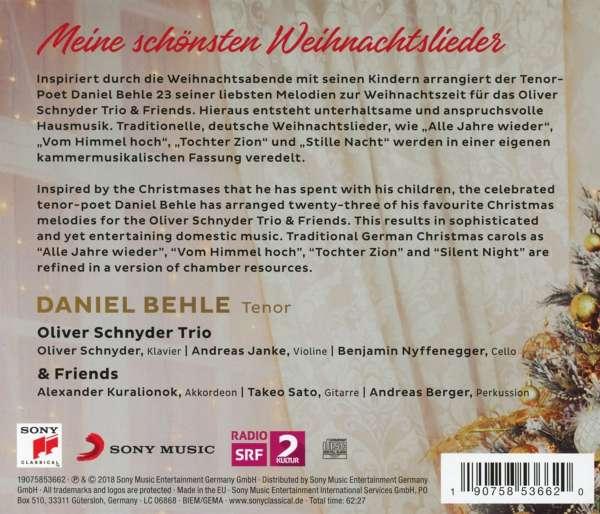 Bekannte Weihnachtslieder Kinder.Daniel Behle Oliver Schnyder Trio Meine Schönsten Weihnachtslieder